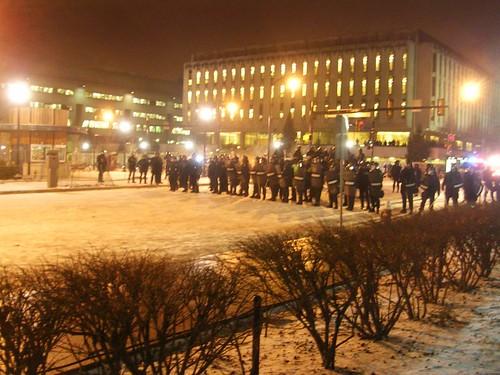 Long Line of Cops
