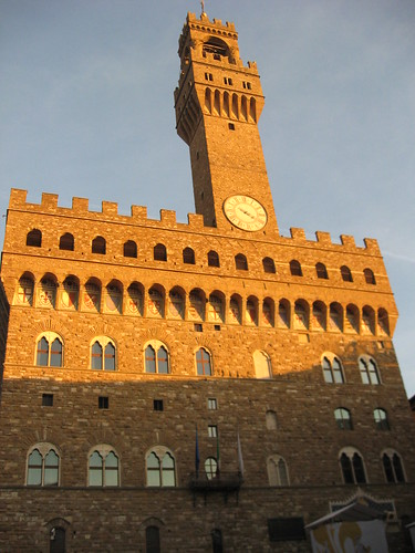 Palazzo Vecchio, from the Piazza della Signoria, Florence