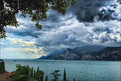 View from Malcesine, Lake Garda, Italy photo by Ellie Ellis