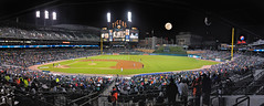 Moon Rises Above Comerica Park photo by Duffey Petrosky