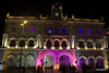 Rossio Station by night during a presentation - Lisbon