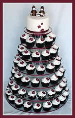 Todd and Jessica Wedding Cupcake Tower photo by TheLittleCupcakery