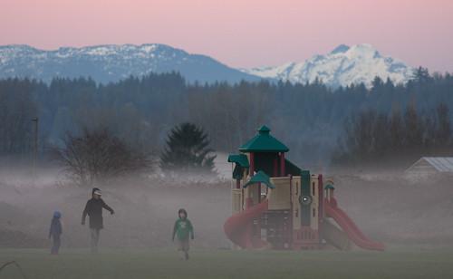 Tolt MacDonald in the mist