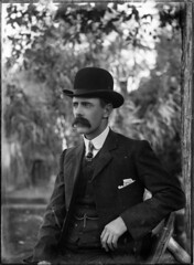 Portrait of a man in a bowler hat photo by Powerhouse Museum Collection