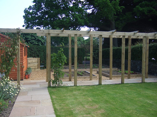 Suburban Backyard Wedding : for a wedding All borders around the house and in the walled garden