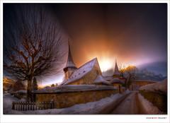 Rougemont Church (Switzerland) - HDR photo by Eric Rousset
