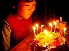 ハッピーバースデー!誕生日のケーキだよ。