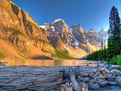 Shores of Moraine Lake photo by Matt Champlin
