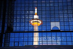 Reflections, Kyoto tower on Kyoto station, Japan photo by fabriziogiordano23