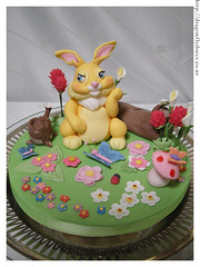 Miss Bunny cake topper photo by Dragonfly Doces
