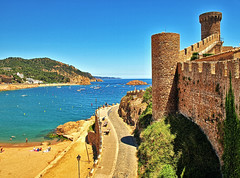 The Beach & Castle Walls - Tossa De Mar photo by neilalderney123