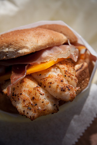 Grilled Grouper & Prosciutto Sandwich