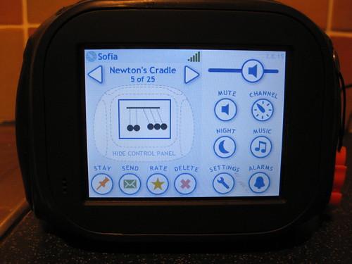 Chumby's Control panel
