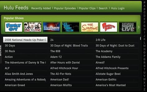 Hulu Feeds