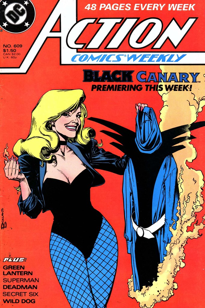 Action Comics 609 Black Canary cover by Brian Bolland 1988