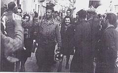 Italie 1945- Borgo San Dalmazzo, 28 avril 45, Cruciani, Galante- Archives ADFL