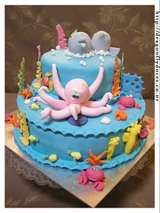 Under the Sea Cake photo by Dragonfly Doces