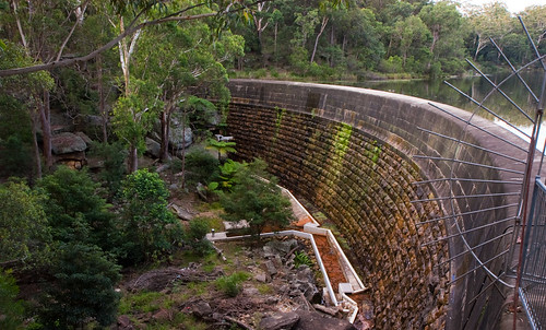 The dam wall of Lake Parramatta