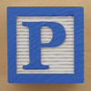 Educational Brick Letter P