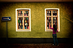 Window to Knowledge photo by suffe
