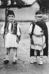 Nicholas and Peter Tsikleas, dressed in national Greek costume photo by State Library of Queensland, Australia