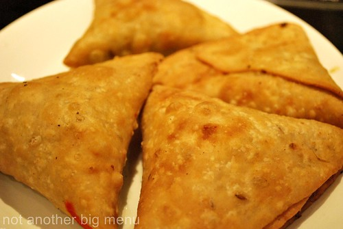 Chicken and lamb samosa £1.25 per piece