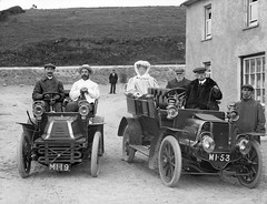 Group in motor cars, Bunmahon, Co. Waterford photo by National Library of Ireland on The Commons