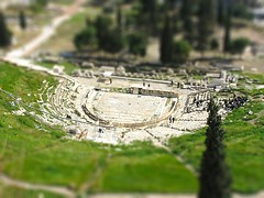 Theatre of Dionysus, Acropolis, Athens - Miniature version photo by Tilemahos Efthimiadis