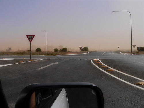Strong winds and lots of dust