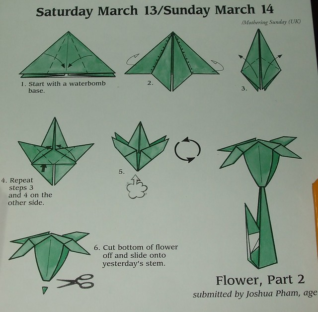 How to do a origami flower 8132148 114searchfo how to make an origami flower and a leaf spanish eye mightylinksfo