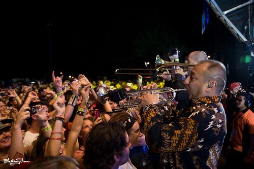 Jason Mraz Brass Players @ West Coast Blues & Roots Festival 2009