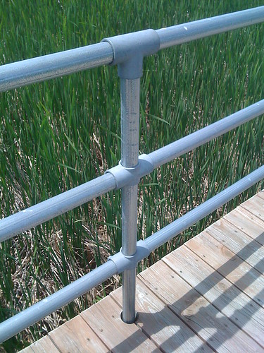 Kee Klamp Railing on Braddock Bay outside Rochester, NY