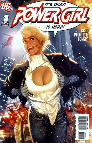 Power Girl 1 variant cover by Adam Hughes