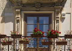 To day is my birthday!!!! Spring is sprung in Sicily in a baroque balcony . photo by sanguedolces