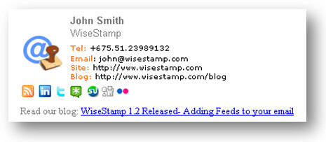 add HTML sigmature in gmail with wisestamp