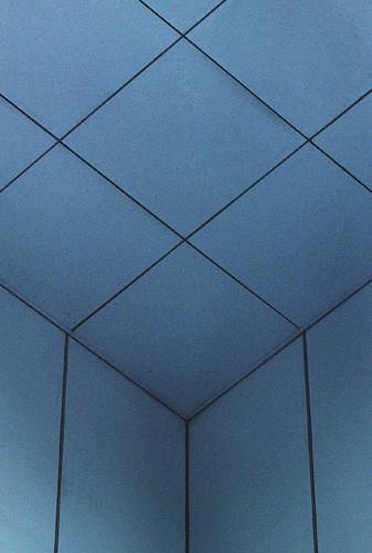 diedre et toit bleus