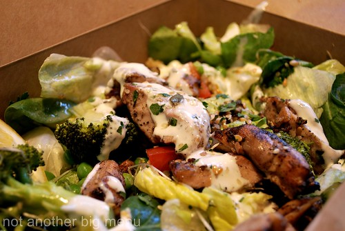 Leon's grilled chicken superfood salad £6.35