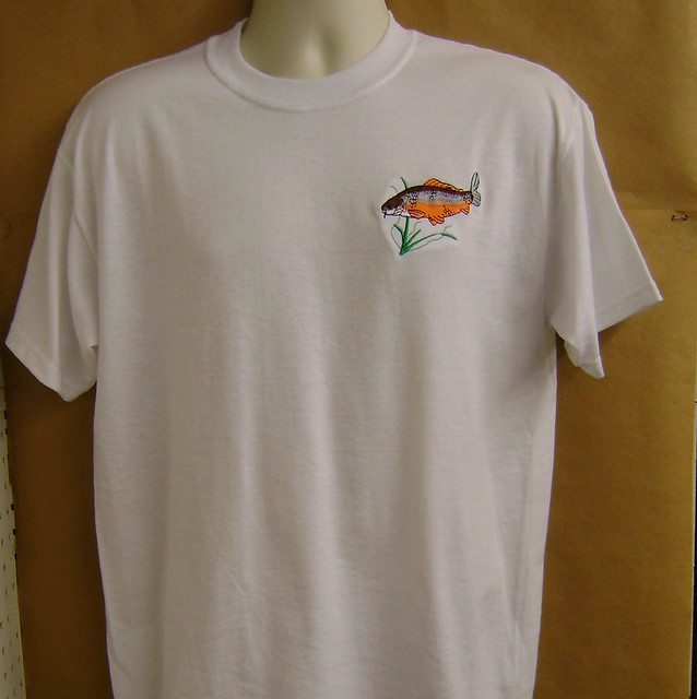 Custom embroidery fishing embroidery origami for Embroidered columbia fishing shirts