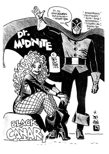 Black Canary and Doctor Mid-Night