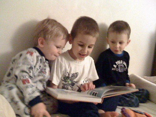 Isaac Reading to his Brothers
