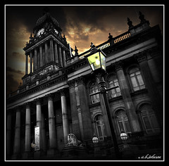 """light on"" leeds town hall photo by car 67"