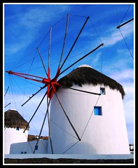 The White, White Windmills of Mykonos, Greece photo by moonjazz