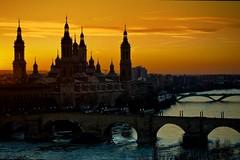 Autumn Sunset in Zaragoza Spain! Explored!!!! photo by Antonio Goya
