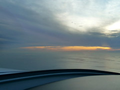 View of Pacific Ocean from the pilot's seat