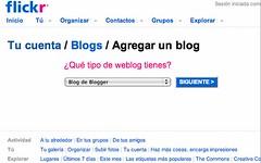 Flickr: Agregar un weblog