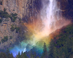 IMG_1811 Rainbow by Bridalveil Falls, Yosemite National Park photo by ThorsHammer94539