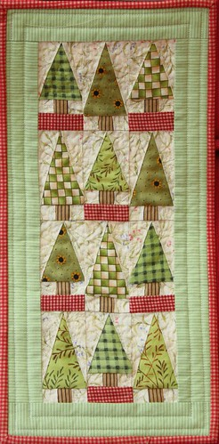 Little trees miniature patchwork quilt photo by jillyspoon