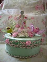 shabby altered art marie antoinette glittler roses rhinestones cake contest  side 2 b photo by stephanies cottage!