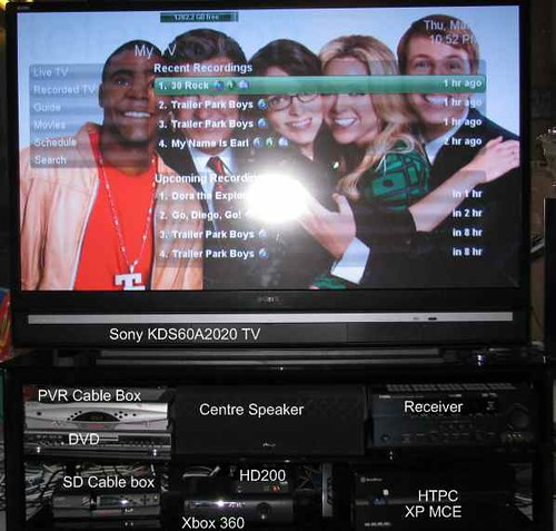 SageMC Recorded TV screen