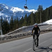 Cycling with the skiers